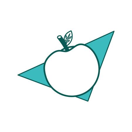 apple fruit nutrition diet fresh healthy lifestyle vector illustration outline design green image