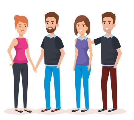 young people avatars characters vector illustration design Ilustração