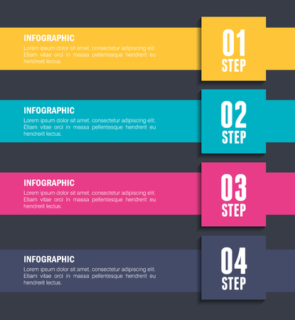 numbers and steps infographic template vector illustration design