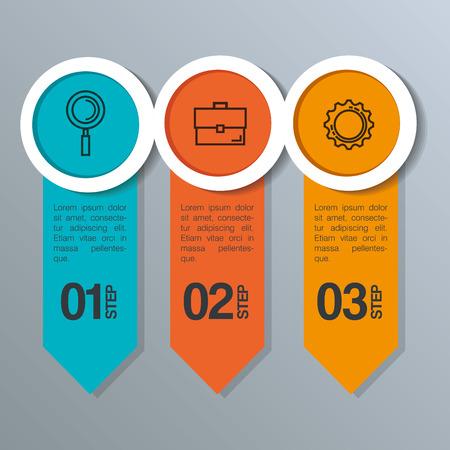 infographic statistics with business elements vector illustration design Illustration