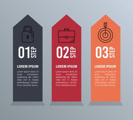 infographic statistics with business elements vector illustration design Çizim