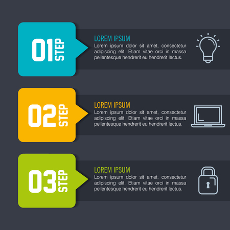 infographic statistics with business elements vector illustration design Stok Fotoğraf
