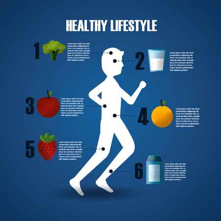 infographic runner man steps information healthy lifestyle sport gym vector illustration