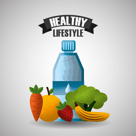healthy lifestyle sport gym dieting nutrition vector illustration Stock Vector - 98190653