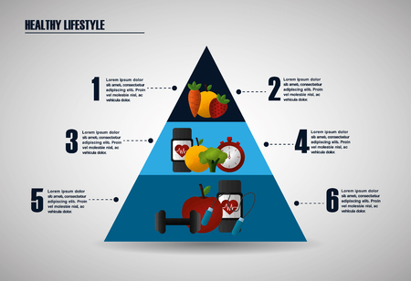 healthy foods dieting infographic pyramid food sport fitness vector illustration