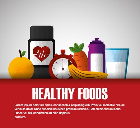 healthy foods dieting food balance nutrition vector illustration Illustration