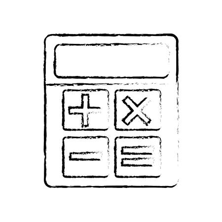 business calculator financial math icon vector illustration sketch design