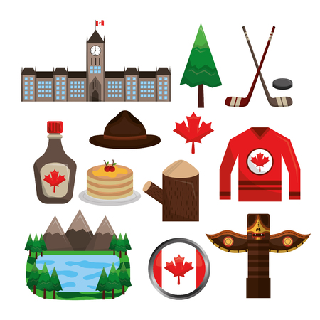 canadian insignia object symbol national collection vector illustration