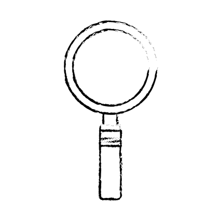 magnifier glass search analysis icon vector illustration sketch design Illustration