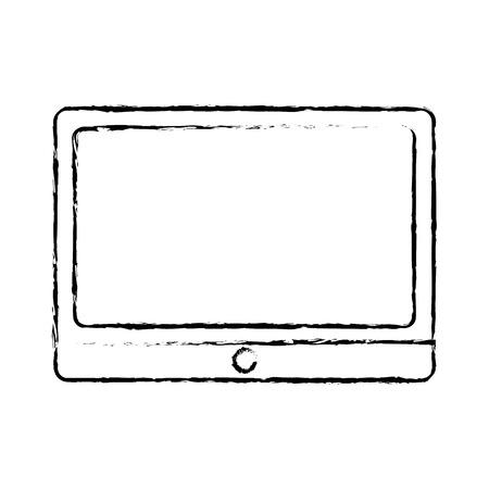 technology digital table computer gadget vector illustration sketch design