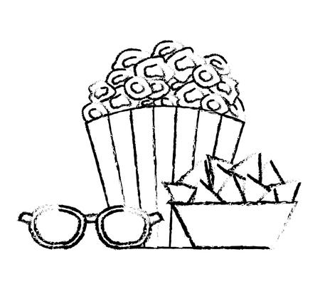 projector lamp cinema movie image vector illustration vector illustration sketch design