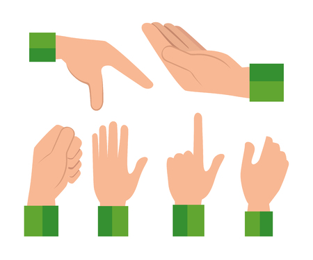 Hands human language signs vector illustration design