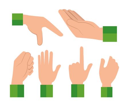 Signes de langue des mains humaines conception illustration vectorielle Banque d'images - 98353909