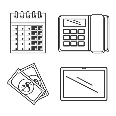 tax return time set icons vector illustration design Illustration