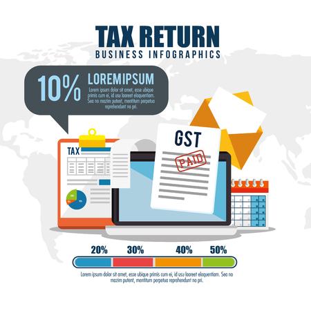 Tax return time set icons vector illustration design.  イラスト・ベクター素材