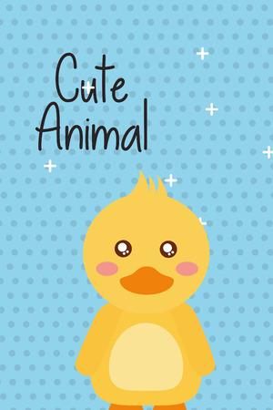 かわいい動物アヒル漫画明るい背景ベクトルイラスト  イラスト・ベクター素材