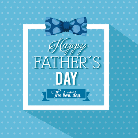 happy fathers day card with calligraphy and accessory vector illustration design Stok Fotoğraf - 98231800