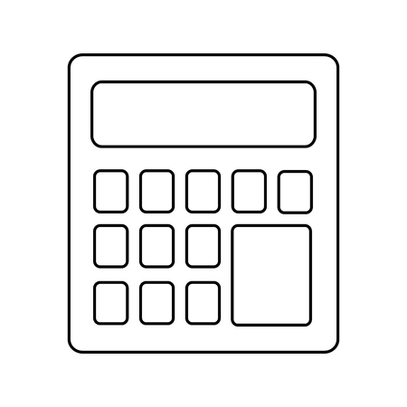 calculator device isolated icon vector illustration design 일러스트