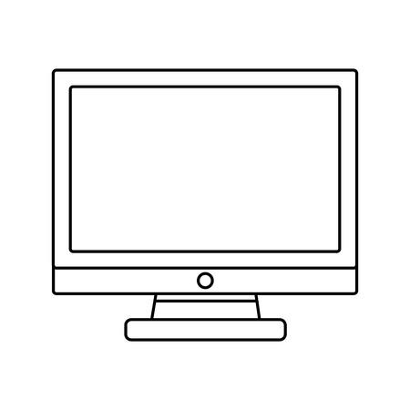 monitor computer tech icon vector illustration design
