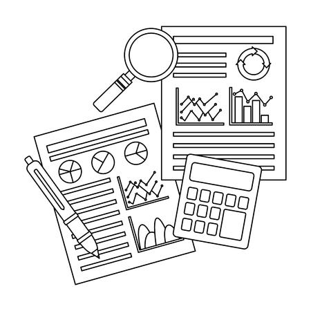 statistics infographic set icons vector illustration design Stock fotó - 98227395