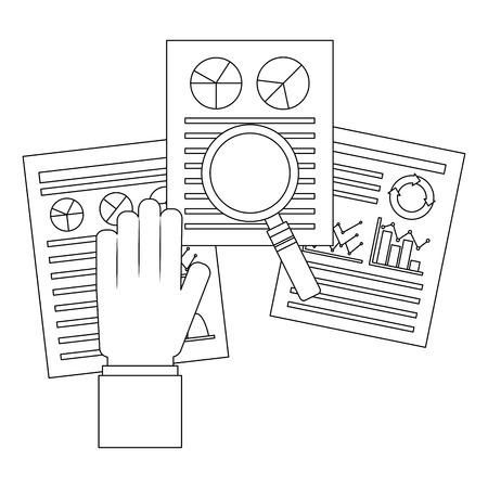 statistics infographic set icons vector illustration design