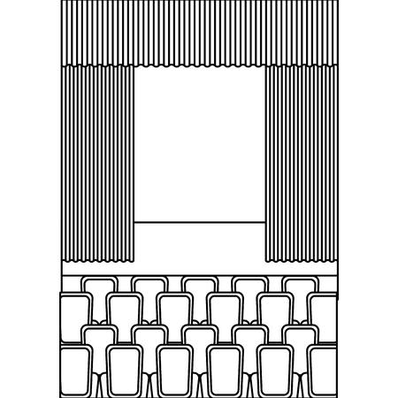 theater auditorium scene icon vector illustration design