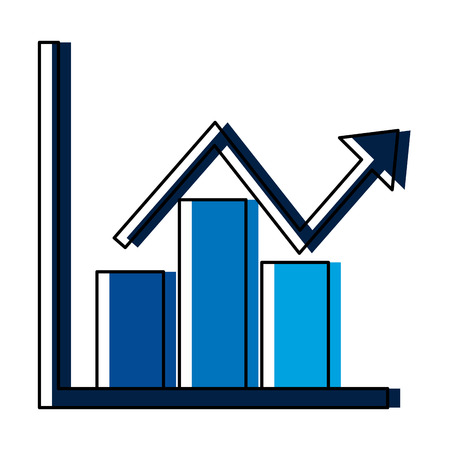 statistics infographic with arrow vector illustration design