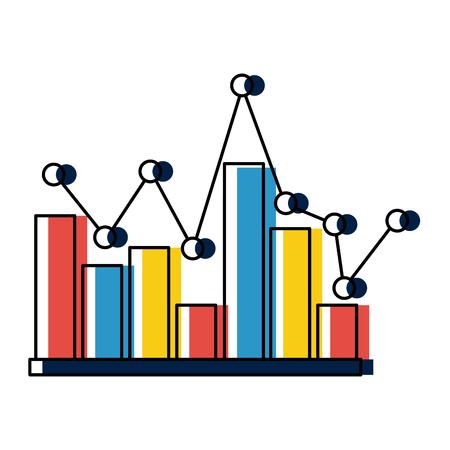 statistics infographic with bars vector illustration design