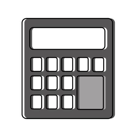 계산기 장치 격리 아이콘 벡터 일러스트 디자인