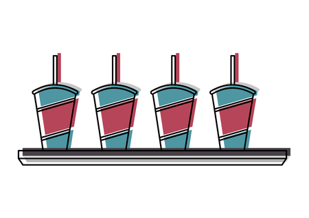 snack in shelf cinema icon vector illustration design Illustration