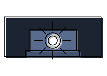 cinema projector isolated icon vector illustration design  イラスト・ベクター素材