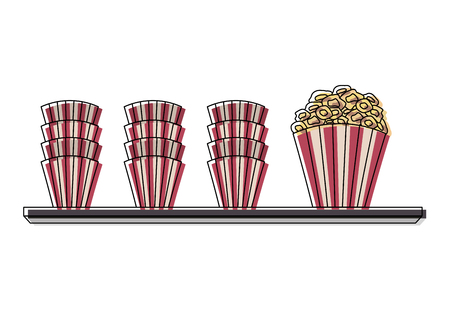 pop corn in shelf cinema icon vector illustration design 일러스트