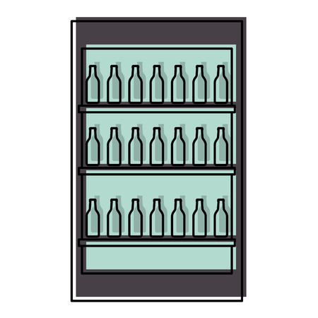 dranken showcase geïsoleerde pictogrammen vector illustratie ontwerp Stock Illustratie