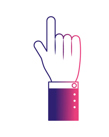 hand human index icon vector illustration design