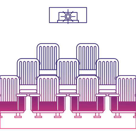 theater auditorium scene icon vector illustration design