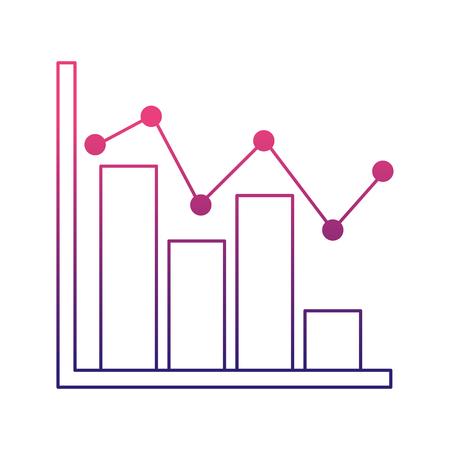 Statistiques infographie avec des barres illustration vectorielle conception Banque d'images - 98251266