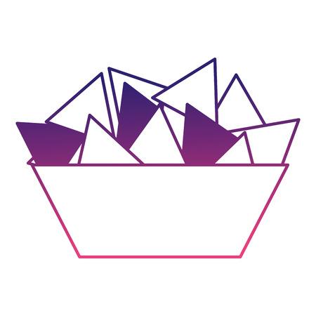 delicious nachos isolated icon vector illustration design