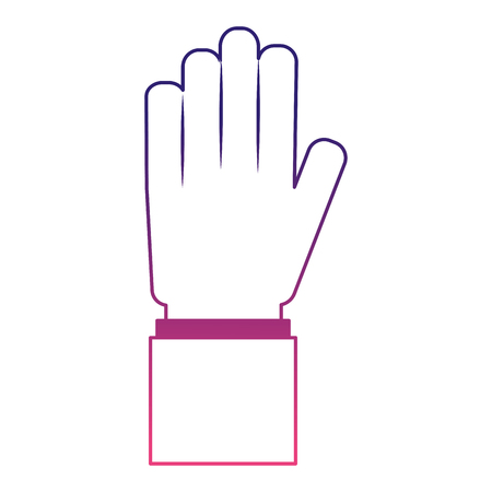 hand human isolated icon vector illustration design Çizim