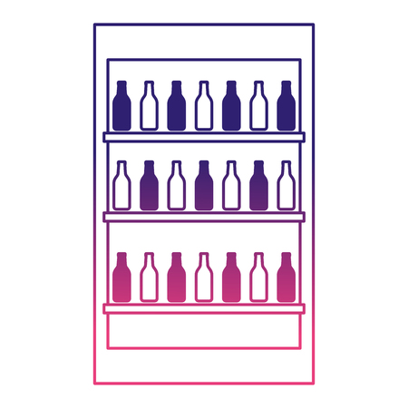 beverages showcase isolated icons vector illustration design