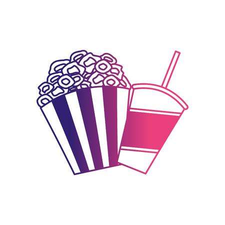 pop corn and soda cinema icon vector illustration design Illustration