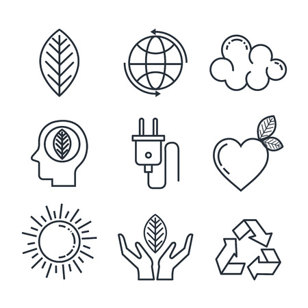 eco friendly set icons vector illustration design Иллюстрация