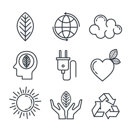eco friendly set icons vector illustration design Illustration