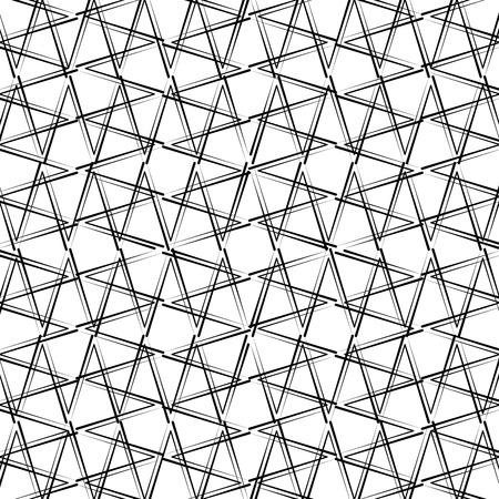 幾何学的な数字モノクロパターンベクトルイラストデザイン。
