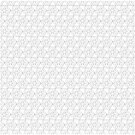 Geometric figures monochrome pattern vector illustration design. Imagens - 98427716