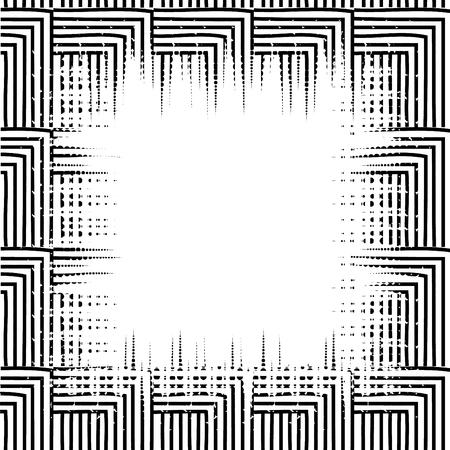 幾何図形モノクロ パターン ベクトル イラストデザイン  イラスト・ベクター素材