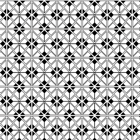 Geometric figures monochrome pattern vector illustration design. Illustration