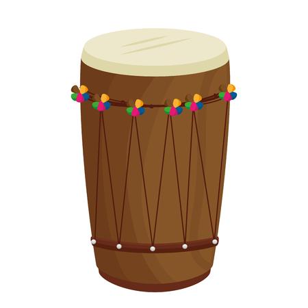 Tropical drum ethnicity icon vector illustration design.