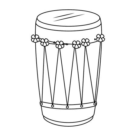 tropical drum ethnicity icon vector illustration design Çizim