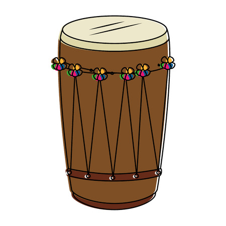 tropical drum ethnicity icon vector illustration design Banco de Imagens