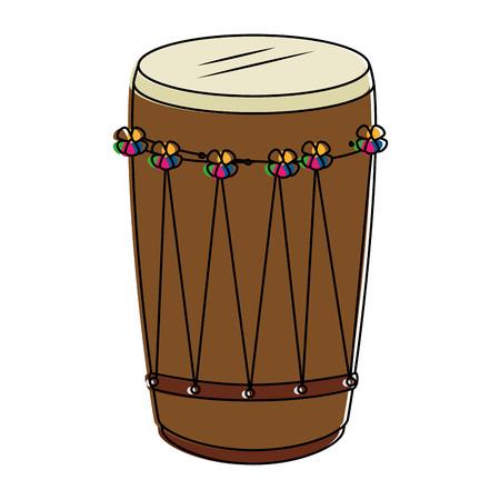 tropical drum ethnicity icon vector illustration design Standard-Bild
